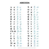 Abeceda pro 1.ročník ZŠ - nástěnná tabule  bez lišt  69x99cm