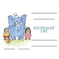 Pochvalný list Děti a slon /formát A5/