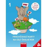 Procvičovací karty na celý školní rok 1.ročník – pro děti s SVP  (Čj, M, Prvouka)