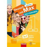 Deutsch mit Max NEU + Interaktiv 1 - barevný pracovní sešit  3 v1 (hybridní)