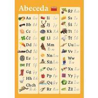 Plakát k českému jazyku (abeceda pro vázané/nevázané písmo) 594 x 841
