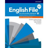 English File Fourth Edition Pre-Intermediate - Multipack A with Student Resource Centre Pack