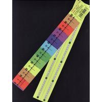 Číselná osa 0-100 -- popisovatelná /lamino 30cmx4cm/ rubová strana čísla 1-100
