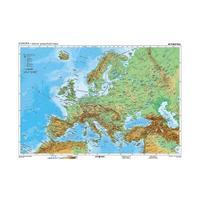 Evropa obecně geografická / politická -160x120 cm,  nástěnná mapa