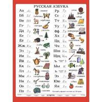 Ruská abeceda - 120 x 160cm, nástěnná mapa
