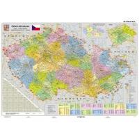 Česká republika -  příruční mapa administrativní LAMINO A3  1:1 300 000