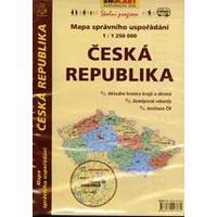 Česká republika mapa správního uspořádání 1:1 250 000  DOPRODEJ