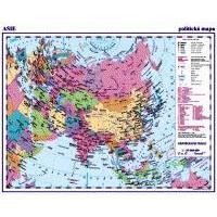 Asie - LAMINO A3 příruční politická mapa 1:35 000 000