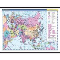 Asie - politická nástěnná mapa + 20 mapek  1360x960mm