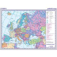 Evropa - příruční mapa - politická / obrysová