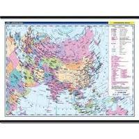Asie - nástěnná politická mapa + 20ks mapek, 1360x960mm