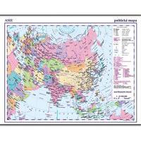 Asie - politická nástěnná mapa 1:10 000 000, 1360x960mm