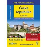 Česká republika - skládací obecně zeměpisná mapa 1:100 000 000 DOPRODEJ