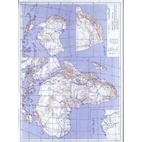 Afrika / Austrálie - obrysová mapa slepá  DOPRODEJ