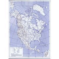 Severní a Jižní Amerika - obrysová mapa slepá  DOPRODEJ