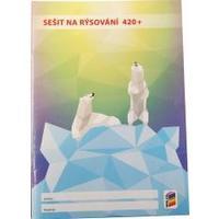 Sešit na rýsování 420+  (bílé listy)