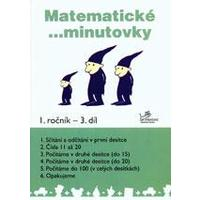 Matematické minutovky 1.ročník - 3.díl  MODRÁ ŘADA