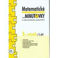 Matematické minutovky 5.ročník - 1.díl  MODRÁ ŘADA