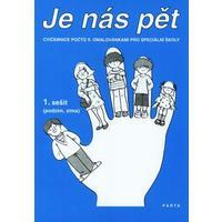 Je nás pět (1.sešit) - Cvičebnice počtů s omalovánkami pro speciální školy