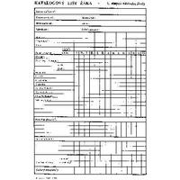 Katalogový list žáka pro 1.stupeň ZŠ