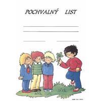 Pochvalný list : Děti a čtyřlístek A4