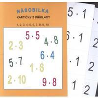 Násobilka malá 1,2,3,4,5,6,7,8,9,10 - /12 karet, 96 příkladů/