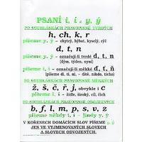Český jazyk - pravopis - plakát (11 ks) včetně lišt