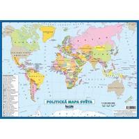 Svět - příruční politická mapa (tabulka 1xA4, 297x210mm)