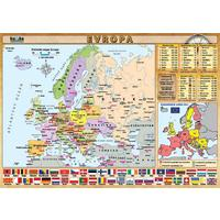 Evropa - příruční politická a fyzická mapa (tabulka 1xA4)