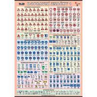 Dopravní značky 1  XL - nástěnný obraz /70x100cm/  včetně lišt