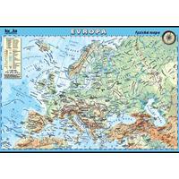 Evropa - fyzická mapa XL - nástěnný obraz /100x70cm/  včetně lišt