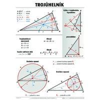 Trojúhelník - nástěnná tabule ( 67x96 cm )