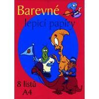 Barevné papíry A4 LEPÍCÍ / 8listů