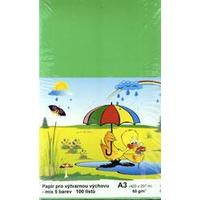 Barevné papíry A3/80g/100 listů (různé barvy)