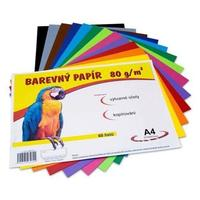 Barevné papíry A4/80g/60 listů - mix 12 barev