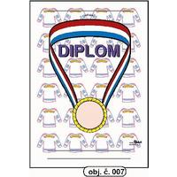 "Diplom A5 ""Medaile"" (obj.č. 7)"