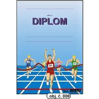 """Diplom A5 """"Běžci""""  (obj.č. 8)"""