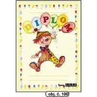 """Diplom A5 """"Šašek s balonky""""  (obj.č. 100)"""