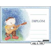"Diplom A5 ""Kytarista""   (obj.č. 106)"