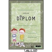 """Diplom A5 """"Fotbalista""""  (obj.č. 107)"""