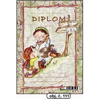 """Diplom A5 """"Dva turisti""""  (obj. č. 111)"""