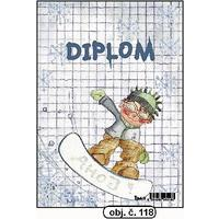 """Diplom A5 """" Snowborďák"""" ( obj.č.118 )"""