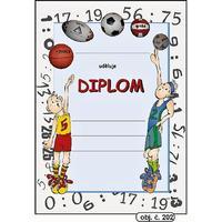 "Diplom A4 ""Míče""  (obj.č. 202)"