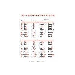 Vzory podstatných jmen - střední rod - nástěnná tabule ( 67x96 cm )