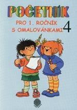 Početník pro 1.ročník ZŠ - 4.díl s omalovánkami  /11 až 20 bez přechodu 10/