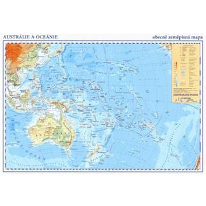 Austrálie, Oceánie – příruční mapa - obecně zeměpisná