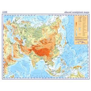 Asie - příruční mapa - obecně zeměpisná