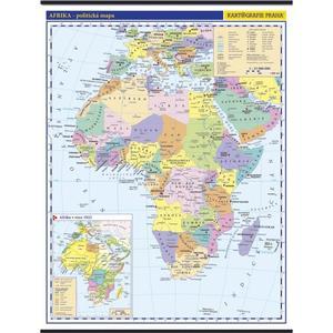 Afrika - politická nástěnná mapa, 1:10 000 000 , 960x1265mm