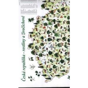 Česká republika - LAMINO A3 příruční mapa (rostliny a živočichové)  DOPRODEJ