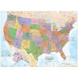 Amerika - politická nástěnná mapa 1:10 000 000 , 1360x960mm